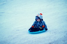 little-boy-sledding